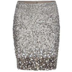 AllSaints Restrain Skirt ($295) ❤ liked on Polyvore