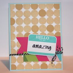 created by Heather Campbell for Avery Elle using the Hello and Bright Days stamp sets. http://parkermolly.blogspot.com/