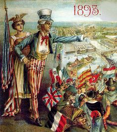 1893 - Uncle Sam & Liberty welcoming to the World's Fair