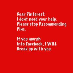 Dear Pinterest.