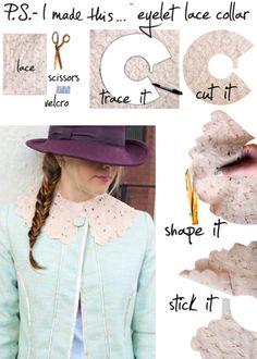 P.S.- I made this...Eyelet Lace Collar   #DIY #PSIMADETHIS  #DIYCOLLAR #SPRING2012