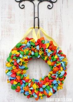 Cute Birthday Wreath #birthday #wreath #party #diy #craft #decor #home #teamnissan #newhampshire