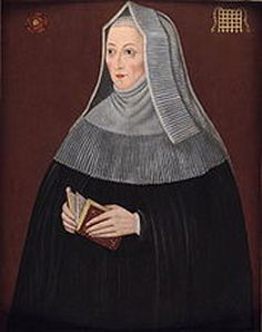MARGARET BEAUFORT, THE MOTHER OF KING HENRY VII. At twelve years of age, she had already been married twice and conceived her only child Henry, who would grow up to defeat, at the Battle of Bosworth Field the forces of King Richard III, the fifteenth and last monarch from the House of Plantagenet. He would claim the crown for his own, to become King Henry VII.