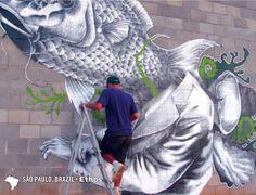 """Ethos"", São Paulo, Brazil  #graffiti"