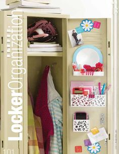 Keep your locker neat and tidy at all times. Organization is KEY in Middle School! Ask your parents for a few magnetic cups/baskets that are fairly inexpensive but work very well.