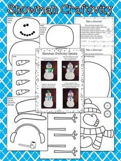 Narrative Writing & Snowman Craftivity ~ a fun and engaging narrative writing project differentiated for 1st/2nd & 3rd/4th grades