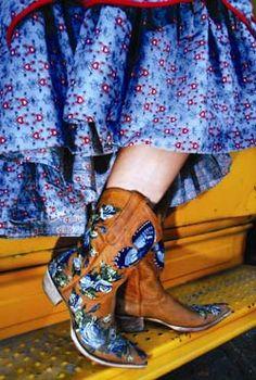 "Old Gringo boots ~ ""something blue"" .)"