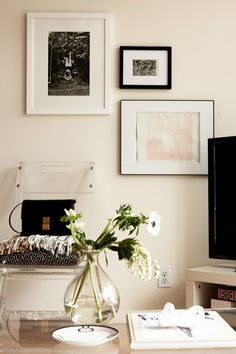 wall color + frames