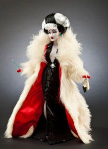 Cruella de Vil froom Disney's Villains collection of limited edition dolls