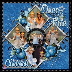Meeting Cinderella - MouseScrappers - Disney Scrapbooking Gallery - what a great page design!