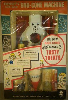 HASBRO: 1967 Frosty Sno-Cone Machine Yeah boy!