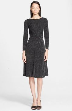 Armani Collezioni Long Sleeve Glitter Jersey Dress at Nordstrom.com. $1395.  The twist dress is still hanging on.
