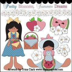 Summer Dreams 2 Clip Art - Original Artwork by Trina Clark