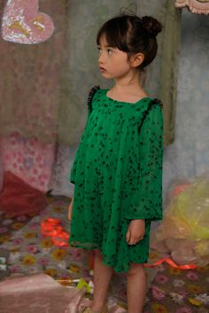 Beautiful green with black accents. #designer #kids #fashion