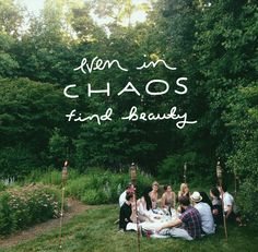 Even In The Chaos Find Beauty   |  The Fresh Exchange