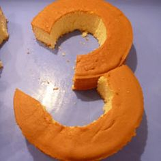Cake shape: Number 3