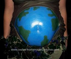 Homemade Mother Earth Pregnancy Costume... This website is the Pinterest of costumes