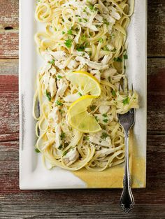 Lemon Chicken Pasta. so buttery and delicious! This is becoming one of our staples for sure -EW