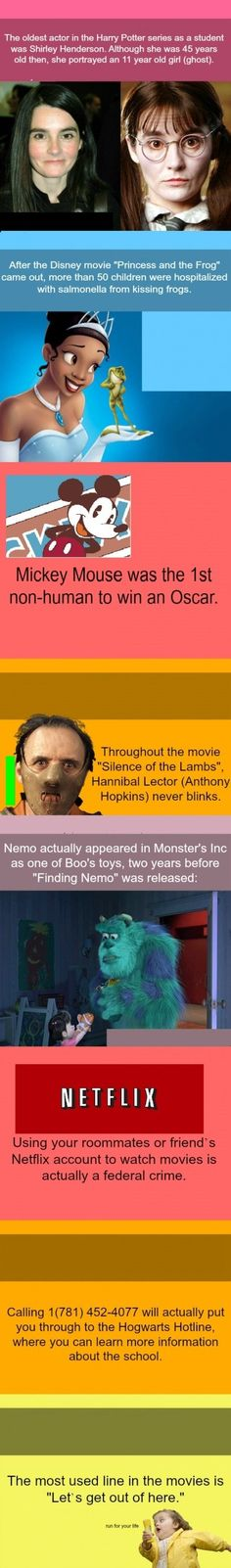 Some useless movie facts! :P