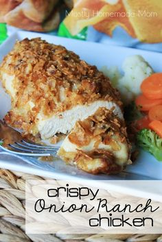 Crispy Onion Ranch Chicken