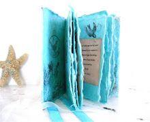 Handmade-paper books.  Lovely.