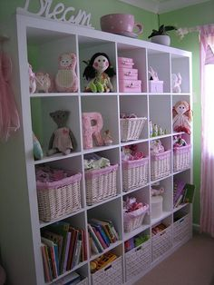 Ikea Expedit for the girl's playroom-Could use for T's playroom too