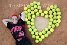 senior girls softball portrait