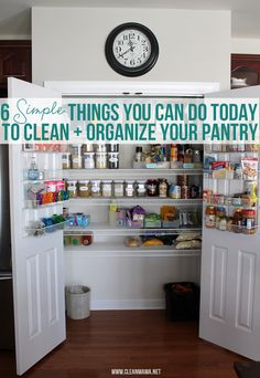 Now THIS I can do! 6 Simple Things You Can Do Today to Clean + Organize Your Pantry