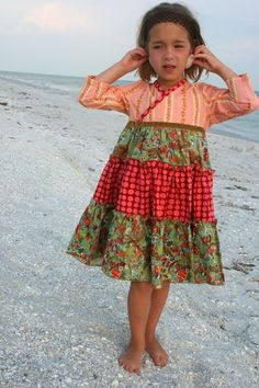 Peachy Twirly Dress, love the material in this