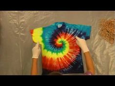 Part 1 of the series. This video shows you how to tie and dye a centered rainbow spiral pattern on a T-shirt using Jacquard's Tie Dye Kit (http://jacquardproducts.com/large-tie-dye.html), which feature Procion MX Dyes (http://jacquardproducts.com/procion-mx.html). For more tutorials like this one from Jacquard, be sure to follow us on Facebook, ...