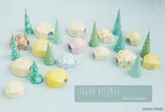 Meeha Meeha: DIY Advent Calendar: Igloo Village