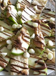 Drizzle some Caramel #Chocolate Velata over chite chips and Granny Smith Apple slices!  YUMMY!