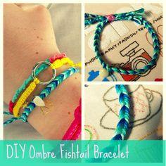 Feltasaurus: DIY Ombre Fishtail Friendship Bracelet Tutorial