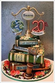 Love the books on this cake!