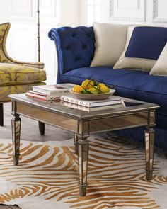 Hailey Mirrored Coffee Table at Horchow.