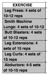 Monday: Legs  Amanda Latona's Fitness 360  fhttp://www.bodybuilding.com/fun/amanda-latona-fitness-360-training.html