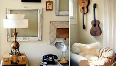 Love that lamp and the frames and the neutral palette and all of the texture!