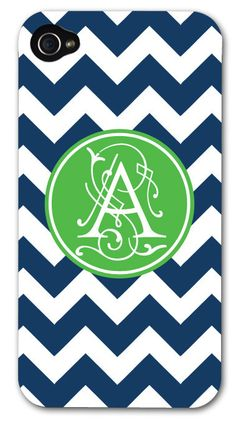 iPhone 5 and 4/4s Case - Monogram iPhone Case - Personalized iPhone Case. $30.00, via Etsy.