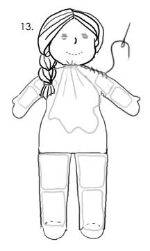 Tutorial for making a waldorf doll