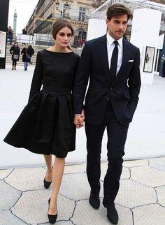 Black tie, black suit, white shirt