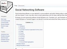 """Social Networking Software"" article on the libsuccess.org Wiki page. Lists great examples of libraries using social media."