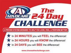 challenges, health challenge, 24 day challenge, junk food, the challenge, kick start, fitness motivation, fitness goals, advocar