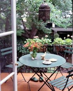 Eat more meals outside. #LiveAlfresco #SummerResolutions terrac, pari, outdoor chairs, outdoor patios, morning coffee, balconi, place, garden, front porches