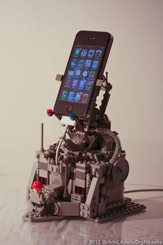 iphon dock, lego fun, lego phone, lego idea, nerdgeek stuff, gadget, legos, awesom, lego iphon