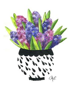 Mother's Day Gift Idea: Flower Prints by @Michelle Schneider, Hyacinth