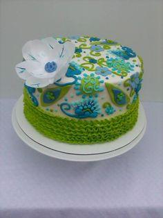 Apron Inspired Buttercream Cake