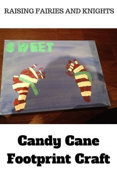 Candy Cane Footprint