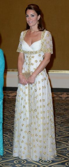 Kate Middleton in Alexander McQueen polka dots. Malaysia, Sept 2012.