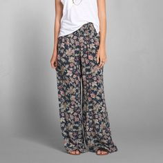 Womens Abby Floral Palazzo Pants | Womens New Arrivals | Abercrombie.com