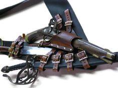 belt inspir, brown leather, accessori, steampunk weaponri, pirat gaaaaaaarb